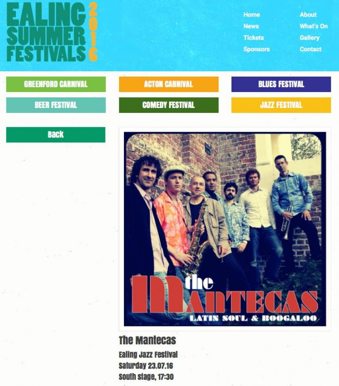 Ealing Jazz Festival 23rd July -5:30pm